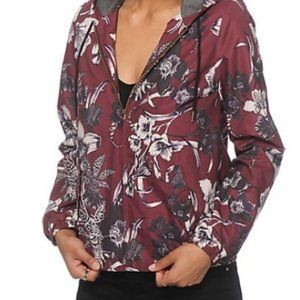 Obey Floral Jacket Hoodie Size Small